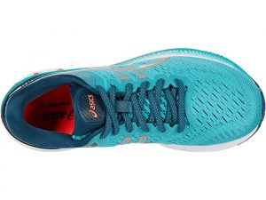 Asics Gel Kayano 27 Techno Cyan/Sunrise Red