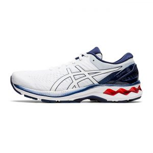 Asics Gel Kayano 27 White/Blue/Red