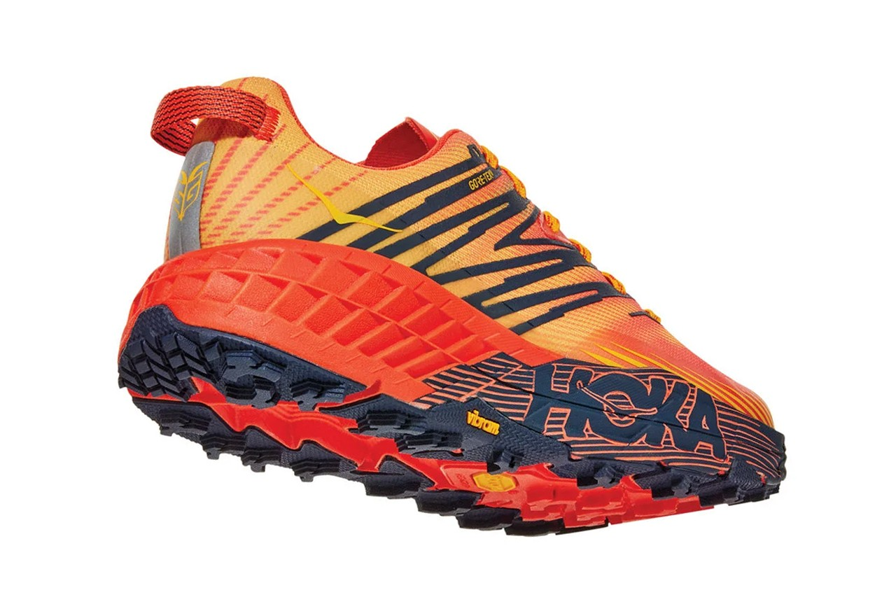 Hoka One One Speedgoat 4 Mandarin Red/Gold Fusion