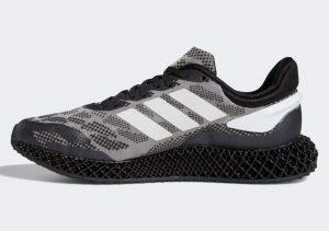 Adidas 4D Run 1 Core Black-Cloud White-Gold Metallic
