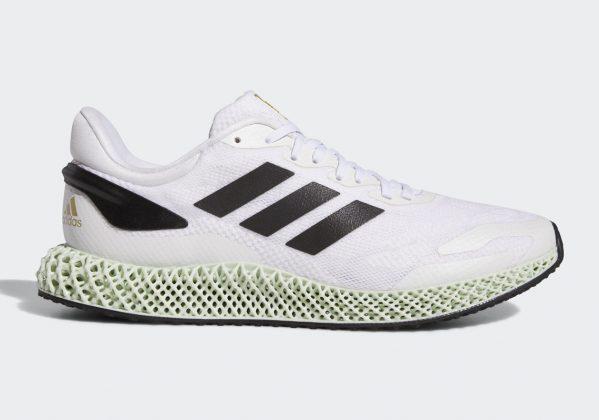 Adidas 4D Run 1 Footwear White/Core Black/Gold Metallic