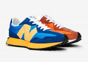 New Balance 327 Blue/Orange/Yellow