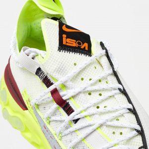 Nike ISPA React WR Pure Platinum/Team Red/Volt