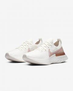 Nike React Infinity Run Flyknit Sail/Copper Metallic/Whit/Light Arctic Pink
