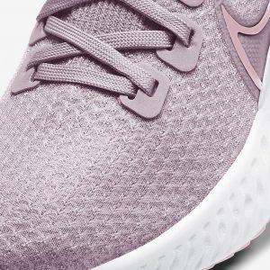 Nike React Infinity Run Flyknit Plum Mist/White/Pink Foam