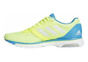 Adidas Adizero Adios 4 - Yellow Hi Res Yellow Ftwr White Shock Cyan Hi Res Yellow Ftwr White Shock Cyan (B37376)