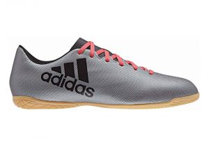Adidas X 17.4 Indoor - Grey Grey Core Black Real Coral S18 (AH2339)