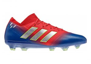 Adidas Nemeziz Messi 18.1 Firm Ground - Red/Silver/Blue (BB9444)