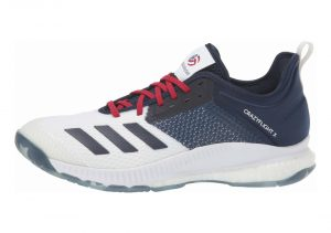 White/Collegiate Navy/Power Red (D97836)