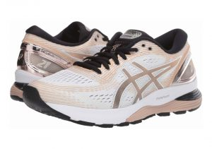 Asics Gel Nimbus 21 Platinum - WHITE/FROSTED ALMOND (1012A608100)