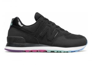 New Balance 574 Outer Glow - Black Neo Mint (WL574SOO)