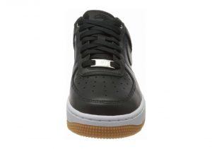 Nike Air Force 1 07 Premium - Black Off Noir Off Noir Mtlc Silver Gum Med Brown White 008 (896185008)