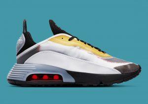 Nike Air Max 2090 White/Bleached Aqua/Black/Speed Yellow/Chile Red