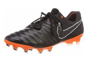 Nike Legend 7 Elite Firm Ground - Black Black Black White Total Orange 080 (AH7238080)