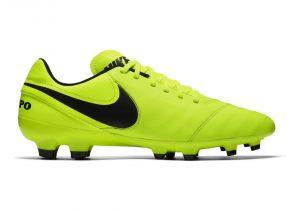 Nike Tiempo Genio II Leather Firm Ground - Green Volt Black Volt (819213707)