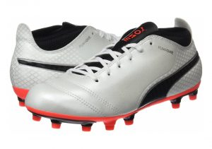Puma One 17.4 Firm Ground - Weiß White Black Fiery Coral (10407501)