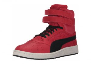 Puma Sky II Hi Colorblocked Leather  - Red (36385402)