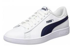 Puma Smash v2 Leather - Puma White / Peacoat (36521501)