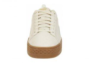 Puma Smash Platform Leather - Puma White / Puma White (36648702)