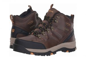Skechers Relment Traven - Dark Brown Leather Dkbr (471)