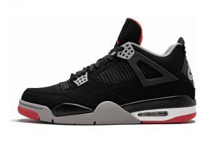 Air Jordan 4 Retro - Black, Cement Grey-summit White-fire Red (308497089)