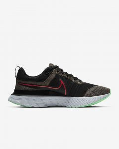 Nike React Infinity Run Flyknit 2 Ridge/Black/ Green Glow/Chili