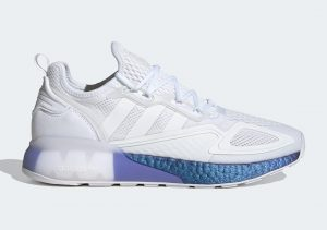 Adidas ZX 2K Boost Cloud White/Boost Blue Violet Metallic