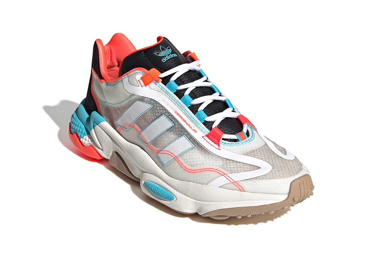 "adidas Originals Ozweego Pure ""Cloud White/Bright Cyan/Solar Red"""