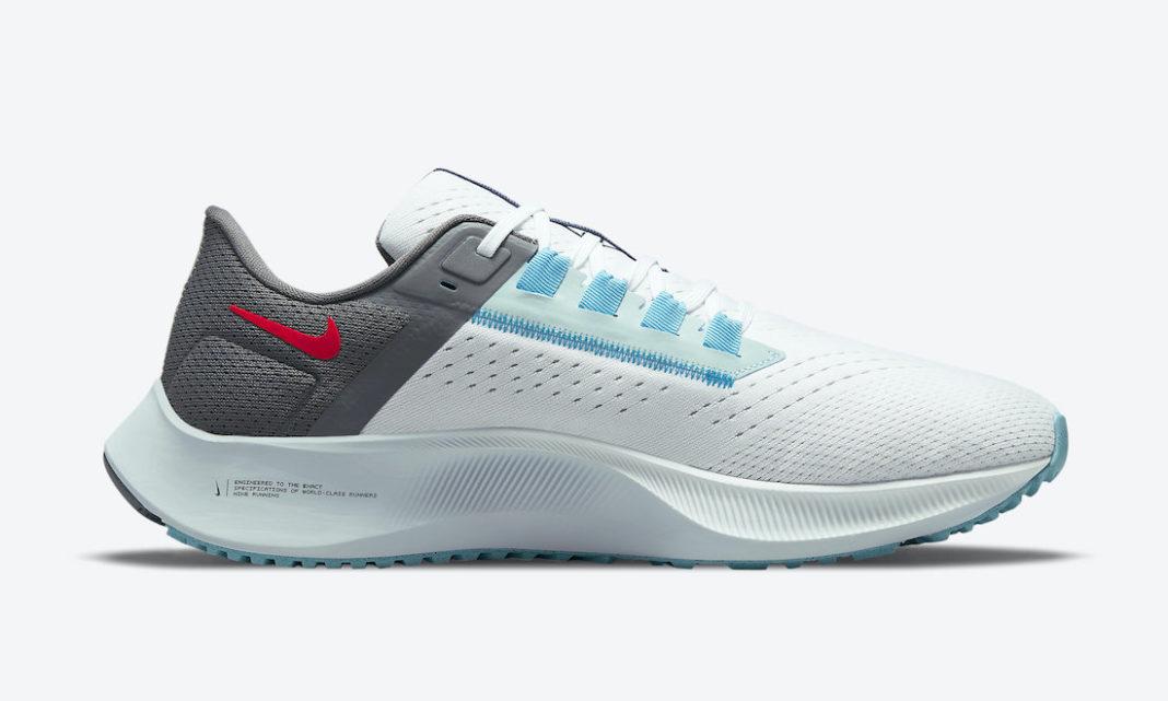 Nike Air Zoom Pegasus 38 Dark Smoke Grey/White-Flash Crimson/Volt