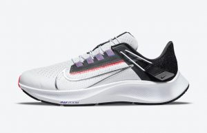 Nike Air Zoom Pegasus 38 Dark White/Black-Flash Crimson-Metallic Silver