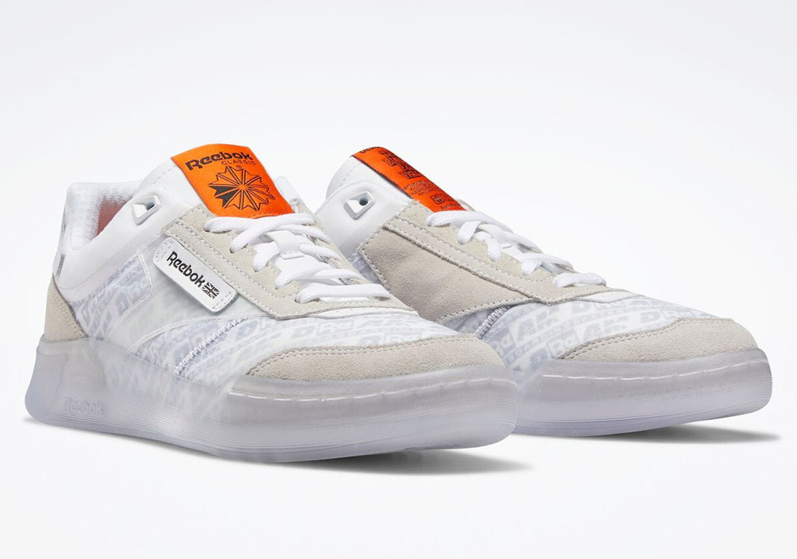 BlackEyePatch x Reebok Club C Legacy White/Swag Orange/Core Black