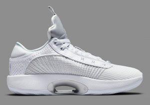 Air Jordan 35 White/White-Metallic Silver