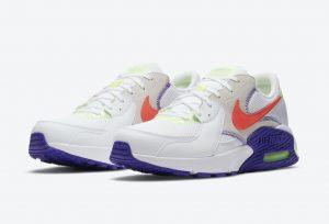 Nike Air Max Excee White-Indigo Burst-Volt-Bright Crimson