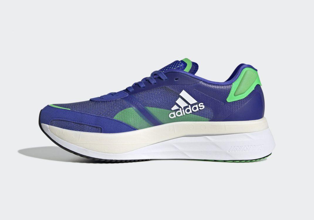 Adidas Adizero Boston 10 Sonic Ink/Cloud White/Screaming Green